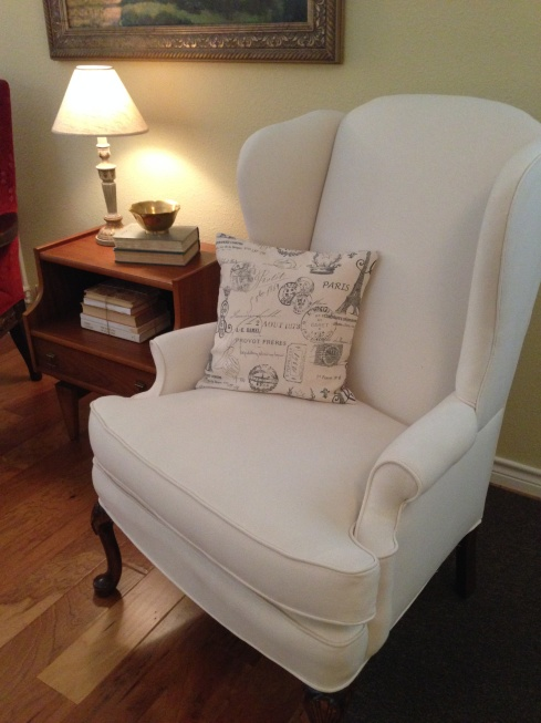 Wingback Chair Re-do