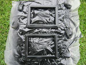 Black Satin Spray Painted Frames