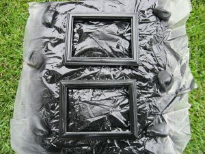 Black Satin Spray Painted Frames