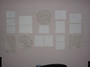 Paper Template on Wall